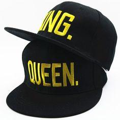 Caps · Baseball Cap KING Men s Hat Spring Autumn QUEEN King Queen Female  Embroidery Couple Hip Hop Cap 5dd625ca5a6b