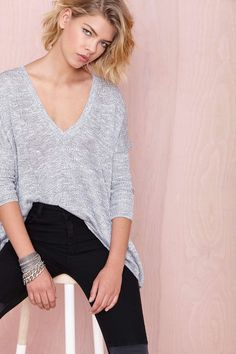 Nasty Gal So Far So Good Sweater - Grey | Shop Sweaters at Nasty Gal