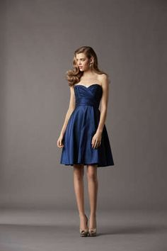 @Amy Watters navy blue bridesmaid dress   What if we all wear the same color but  different style!? Just a thought!