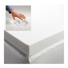 "3"" Memory Foam Mattress Topper - Twin XL sized to fit college dorm room bedding. For meh bed."