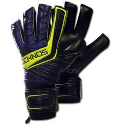 Ichnos Cestus Purple adult size football goalkeeper gloves with protective bars