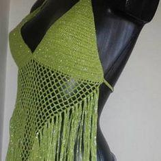 halter de tirantes de ganchillo crochet el Reino Unido de la Crochet Crop Top, Crochet Bikini, Coachella, Hippy, Bohemian Style, Boho Fashion, Crochet Patterns, Etsy, Crop Tops