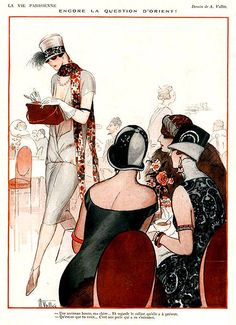 La Vie Parisienne Women Discussing Another Woman 1928 Armand Vallee