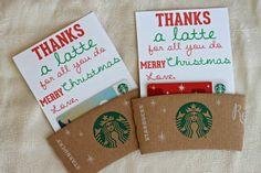 Millie Morgan Media: thanks a latte | diy teacher christmas gift