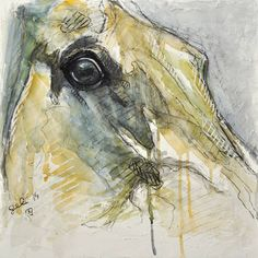 """Saatchi Art Artist Benedicte Gele; Drawing, """"Regard XIV"""" #art"""