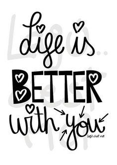 La vida es mejor contigo ilustración descarga
