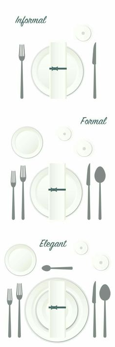Learn how to set the dinner table for every occasion! Kirklandu0027s shows you table settings for informal formal and elegant event  sc 1 st  Pinterest & proper way to set a table | Tasty Treats | Pinterest | Table ...