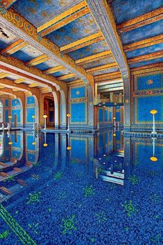 Indoor Roman Pool - Hearst Castle, California | Look at all that mosaic tile! Divine!