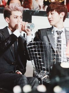 Sehun and Chanyeol