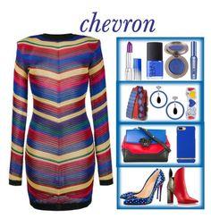 """chevron"" by priyaarun ❤ liked on Polyvore featuring Balmain, Christian Louboutin, Versace, Tory Burch, Dallas Prince, BERRICLE, Estée Lauder, NARS Cosmetics and Benefit"