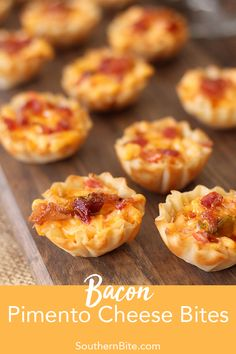 These Bacon Pimento Cheese Bites are the perfect sweet and salty appetizer recipe for the holidays. via These Bacon Pimento Cheese Bites are the perfect sweet and salty appetizer recipe for the holidays. Bacon Appetizers, Finger Food Appetizers, Appetizers For Party, Southern Appetizers, Southern Food, Southern Recipes, Recipes For Appetizers, Finger Food Recipes, Bridal Shower Appetizers