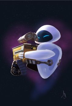 Happy Valentine's day, for today I chose to draw whom are I think are the greatest movie couple and the sweetest love story in all of film history. Wall-E and EVE Disney Dream, Cute Disney, Disney Magic, Disney Art, Disney Movies, Wallpaper Iphone Cute, Disney Wallpaper, Cartoon Wallpaper, Wall E Eve