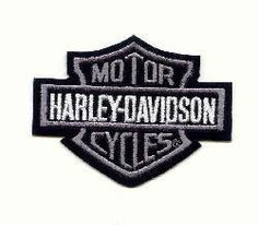 Bar and Shield Harley Silver Patch