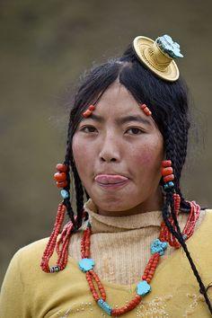 Portrait of a Tibetan woman | © Adela Stoulilova