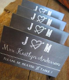 Chalkboard Wedding Place Cards