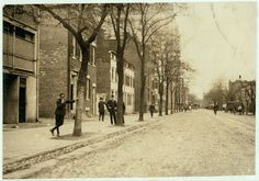 View of Red Light District on C. Street, N.W., near 13th, with Griffin Veatch, who was showing me around. No. 6 Special Messenger Service, 1223 New York Ave., N.W.; he lives 1643 Cramer St., N.E. He said he commenced the messenger service at 11 yrs. old. Has worked all night a couple of years, and now works until 10 P.M. Is known to Truant Officers. Family has had trouble with him. Says he is 17 but doesn't look it. Quite profane, but (apparently) not very wise about this district although…