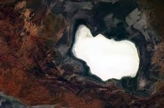 Dry lake bed in the only place on Earth it could be, Australian Outback