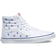 Vans MLB SK8-Hi ($75) ❤ liked on Polyvore featuring men's fashion, men's shoes, men's sneakers, white, mens lace up shoes, mens cap toe shoes, mens white sneakers, mens white high top sneakers and vans mens shoes