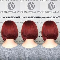 Painting the town red!  Color by Kip / @kippersblondes  Cut & style by Andrew / @andrewbhoward  #visagemoments #redhair