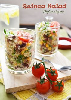 Black bean and corn quinoa salad with instructions on how to cook quinoa perfectly