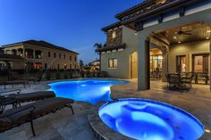 Take a dip in this villas private pool and hot tub! Located in Reunion Resort, Orlando.