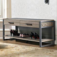 Résultats de recherche d'images pour «hallway bench metal wood»