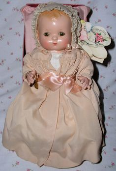 """1940's Effanbee 10"""" PATSY BABYkin Doll -- Blond Molded Hair - A/O -  from dollyologyvintagedolls on Ruby Lane"""