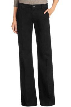 fa843814aa0351 J Brand Mona Trouser in Black - bluebird boutique Pinstripe Pants