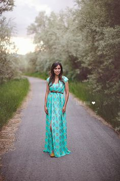 DIY chiffon maxi dress by Lexi Made using Cotton and Curls tutorial