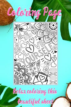 Printable Coloring Pages, Adult Coloring Pages, Coloring Sheets, Printable Planner, Planner Stickers, Printables, Sticker Organization, What Is Your Name, Handmade Accessories