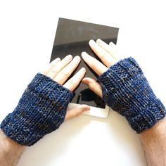 Men's Classic Hand Warmers Fingerless by ValerieBaberDesigns