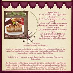 Caramel Apple Cheesecake  ***CG 2011*** by DianaRita @2peasinabucket