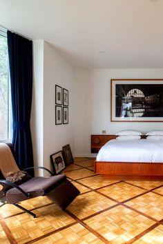 Cosy Bedroom, Bedroom Wall, Contemporary Bedroom, Modern Bedroom, Los Angeles Apartments, Blue Gray Bedroom, Bedroom Color Schemes, Trendy Bedroom, Luxury Apartments