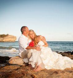Stealing a moment alone - beach wedding photography idea