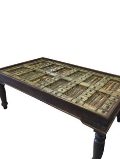 INDIAN Antique Handcarved Haveli Door Table Unique Style Coffee