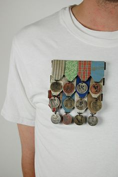 "Jessica Todd - Blue Collar Medal (Family Tree #3)       Date Completed: March 2012 Medium: used clothing, brass, copper, nickel silver, stainless steel Dimensions: 5"" x 4.25"" x .5""                             Plus récent Plus ancien  Date Completed: March 2012 Medium: used cl..."