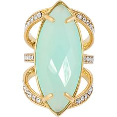 Henri Bendel Astor Semi Cocktail Ring ($118) ❤ liked on Polyvore featuring jewelry, rings, aqua, henri bendel jewelry, aqua ring, henri bendel, statement rings and cocktail ring