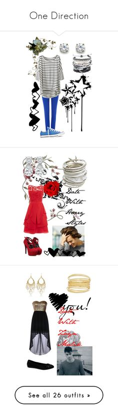 """""""One Direction"""" by roxydou ❤ liked on Polyvore featuring Polo Ralph Lauren, Converse, Domo Beads, Sola, Coast, Wet Seal, Novo, White House Black Market, Puma and Almari"""