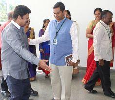 Dr. Mahadevan welcomes Lalu Alex to IHC