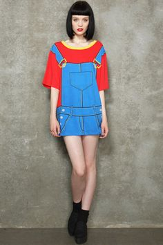 House Of Holland Dungaree Oversized Tee