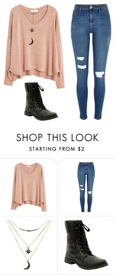 """""""cute/casual"""" by haileyhoksbergen on Polyvore featuring MANGO, River Island, Charlotte Russe, women's clothing, women, female, woman, misses and juniors"""