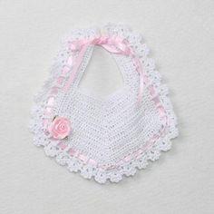 Crochet Baby Christening Bib |