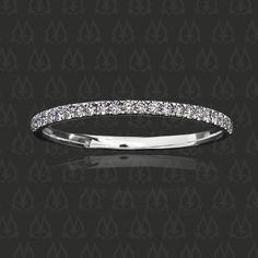 Leon Mege String Theory Diamond Micro Pave Wedding Band