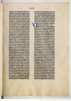 [Bible de Gutenberg] : [Biblia latina]. Ex. sur vélin - Volume 1 | Gallica