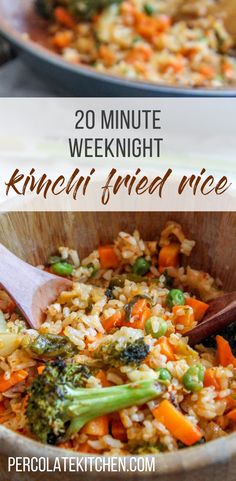 I love ordering kimchi fried rice for takeout but I never realized how easy it is to make! It's a great way to use up leftovers for dinner, too. Plus, you can make it as spicy as you wish. Love the drippy egg yolk