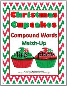 Christmas Cupcake Compound Words