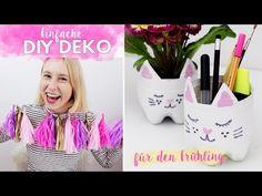 Einfache DIY Deko Ideen für den Frühling im Pinterest Style selber machen - YouTube
