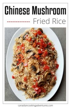 You can Skip the takeout tonight and make this Chinese Mushroom Fried Rice instead.