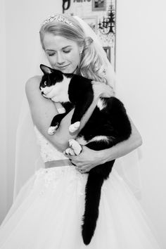 Bride with Cat - Dorset Wedding Photographer - Charlotte Marie Photography