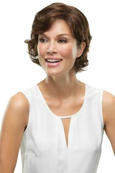 This undetectable crown volumizer clips in gently and blends seamlessly with short wavy styles. The translucent monofilament base allows multidirectional styling. Perfect for mid-progressive stage of hair loss. Comes in synthetic fiber Clip In Hair Pieces, Hair Extension Clips, Jon Renau, Hair Toppers, Short Wavy Hair, Alternative Hair, Crown Hairstyles, Bob Hairstyles, Clip In Extensions